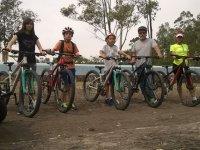 Preparados para la excursion en bicicleta