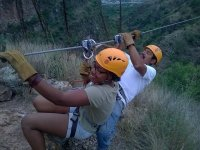 operating the zip lines