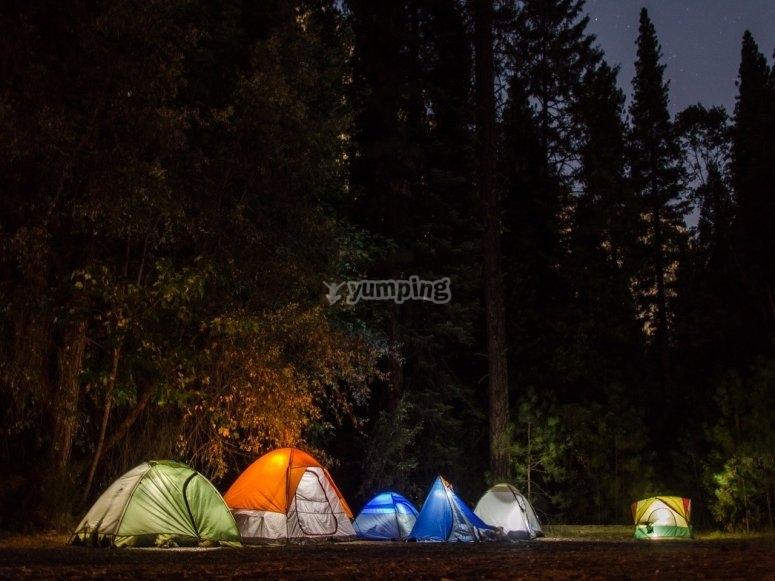 Acampa en Huasca