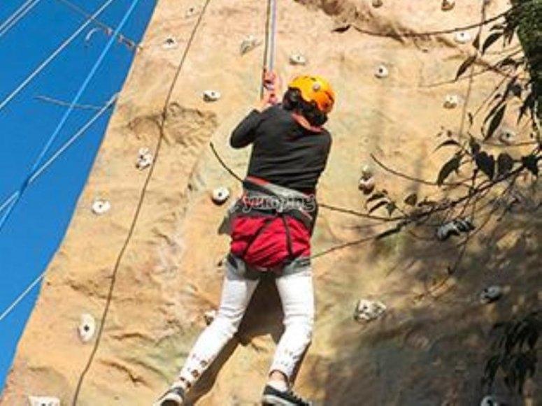 Muro para escalar