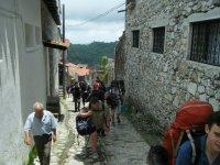 Walking through the village
