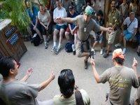 Baile para los excursionistas