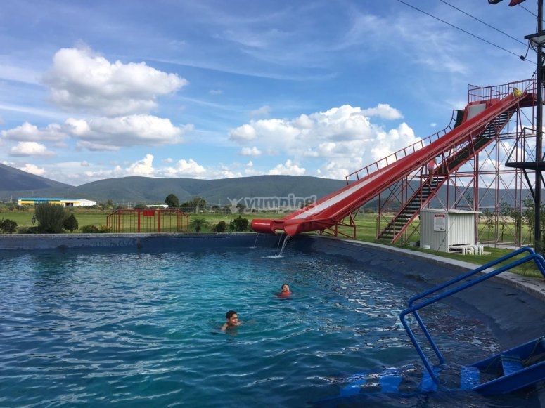 Water slide entrance in Atlixco
