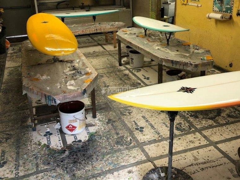 Elaboración de tabla de Surf