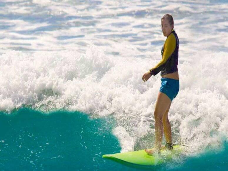 Practica en las mágicas olas