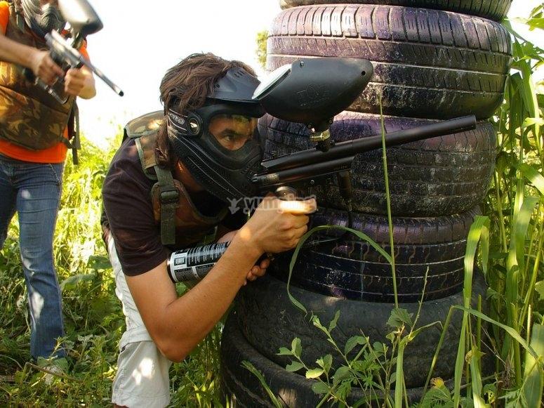 Divertido gotcha en Ayotlán