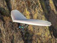 Vista de las montañas de México desde un vuelo en parapente