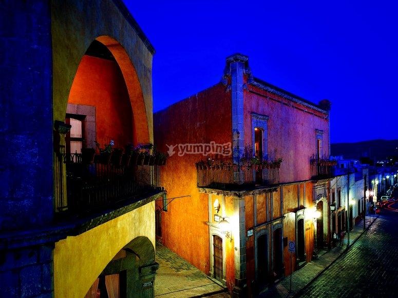 Centro de Querétaro de noche