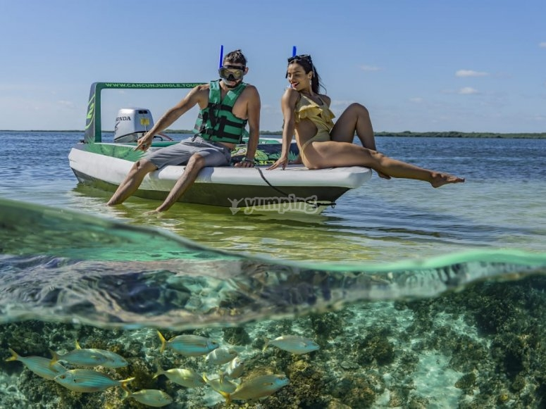 Tour en lancha manglares Quintana Roo
