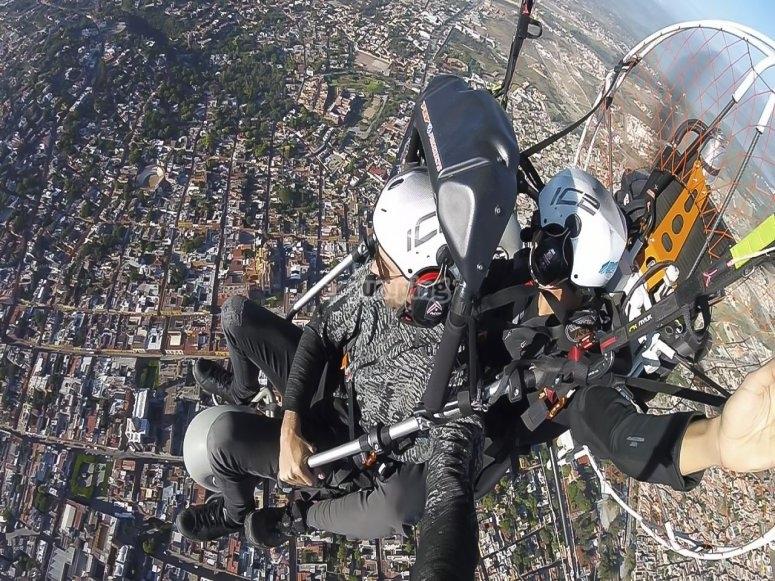 Flying over San Miguel de Allende