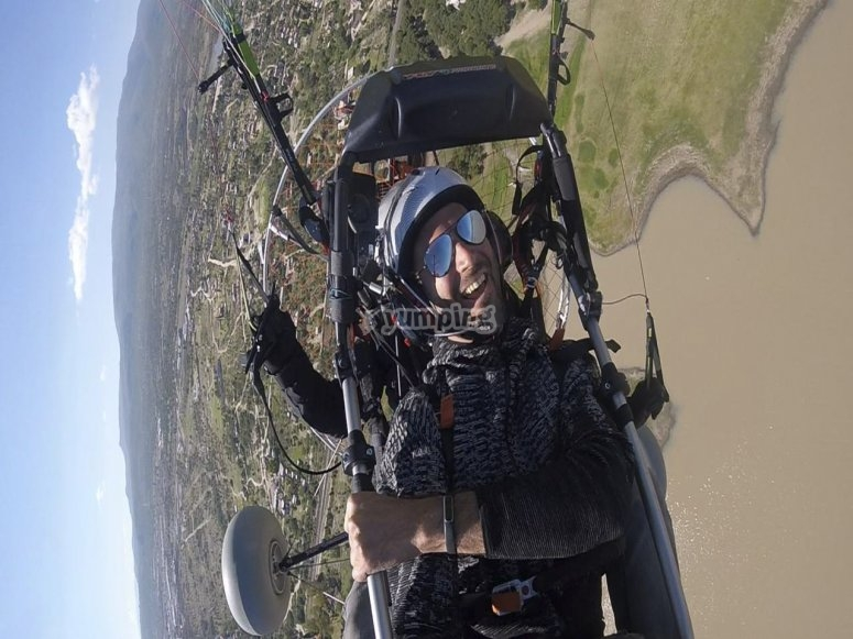 Being happy in paramotor