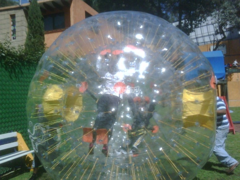 Zorbing sphere for party