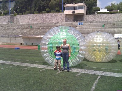 Rent Zorbing and 2 Bumper balls Mexico City