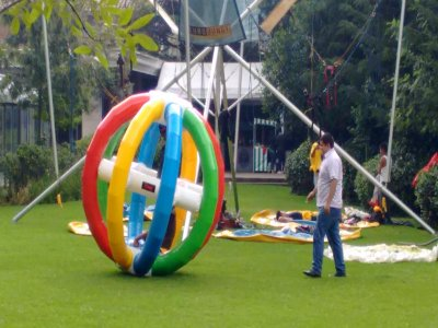 Rolling case, Zorb Sphere and 2 Bumper balls CDMX 5H