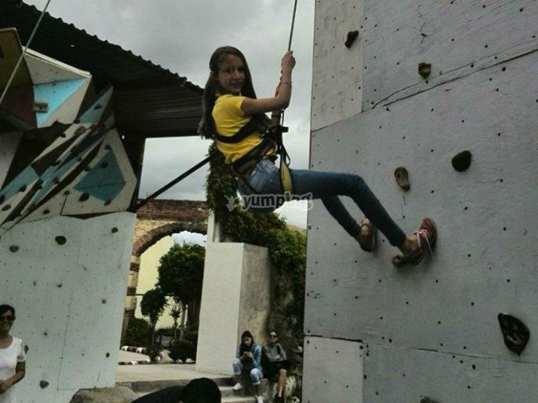 Starting climbing