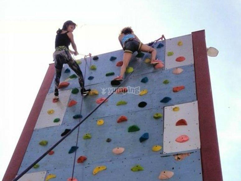 Girls reaching the top