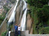 Route through Waterfalls Cola de Caballo in Santiago