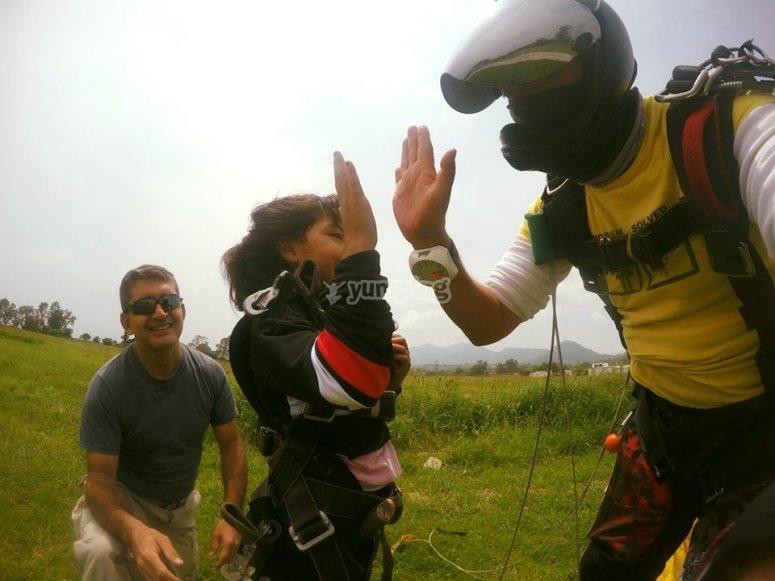 Adventure in parachute