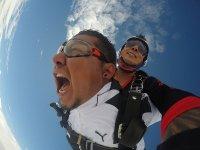 Tandem Parachute Jump at 12,000 feet Chapala