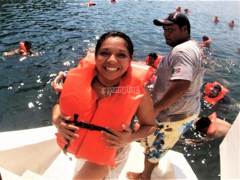 Snorkeling in manzanillo