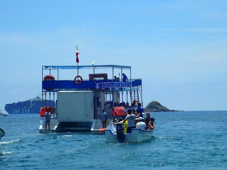 Catamaran through Santiago Bay