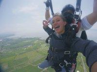 Parachute jump in Celaya Guanajuato