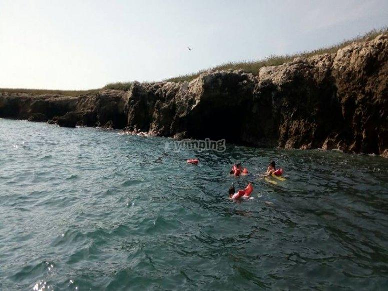 Disfrutando de snorkel en Nayarit
