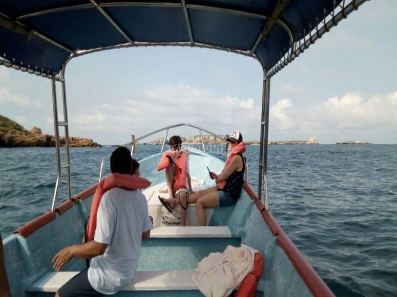 Practicar snorkel en yelapa