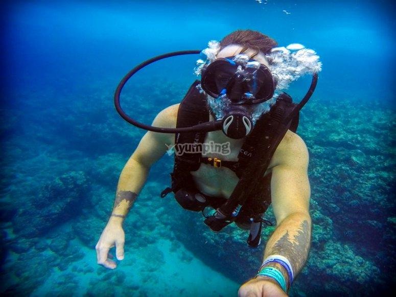 Inmersión de buceo en Islas marietas