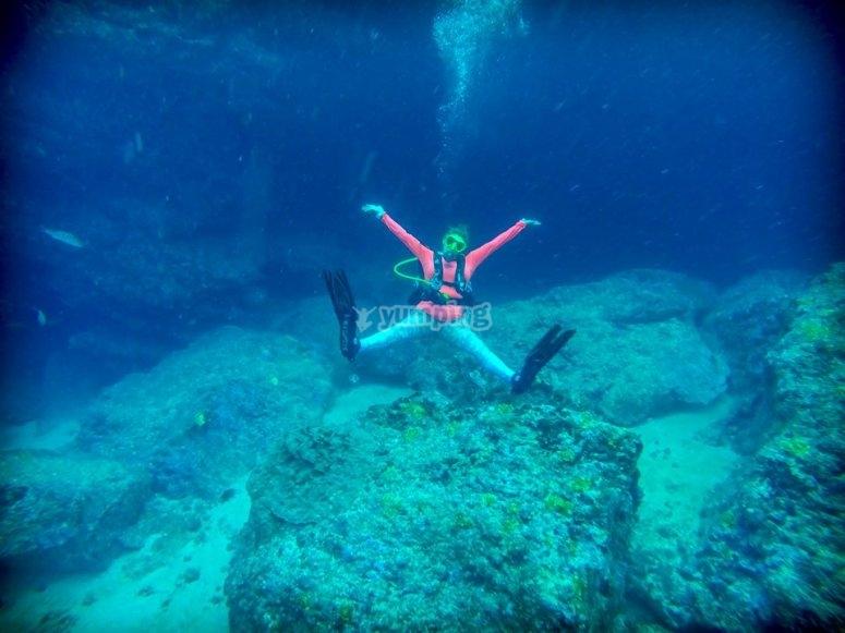 Buceo en profundidades de Nayarit