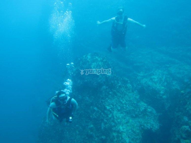 Inmersión de buceo cerca de Vallarta