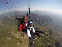 Paragliding in action