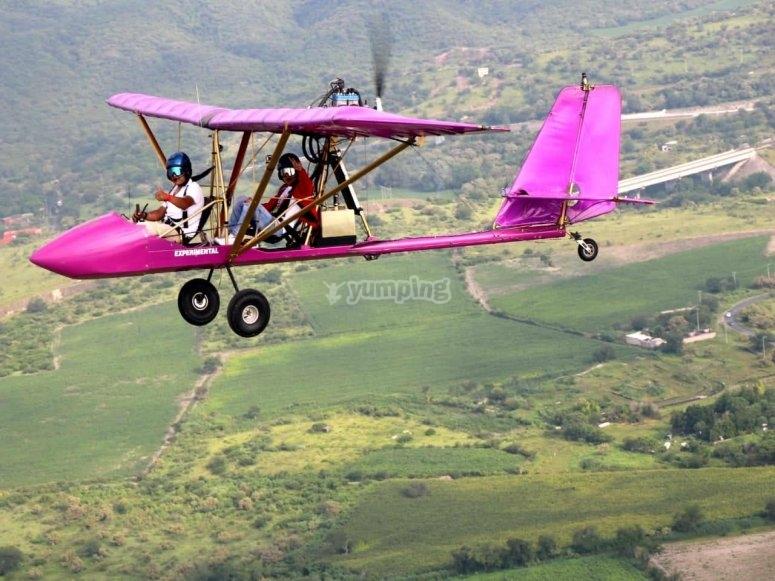 Flying in ultralight