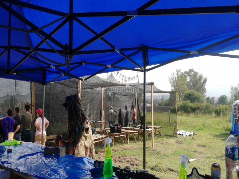 gotcha equipment preparation area