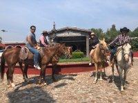 Horseback riding at Tequisquiapan