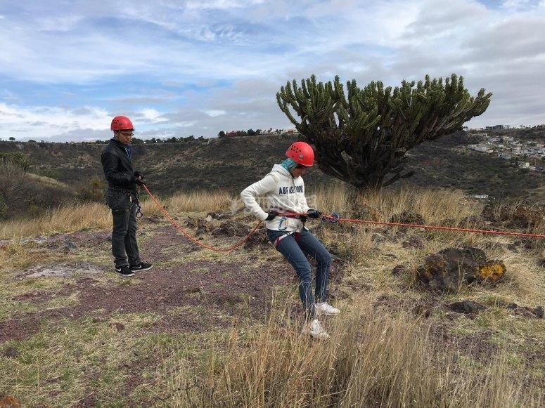 Rappel en cañada cerca de Querétaro