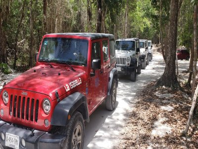 4x4 Jeep Tour to Cozumel Cavern and Cenote 5 Hrs