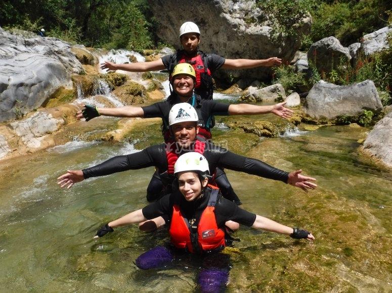 Enjoying the canyoning in Matacanes