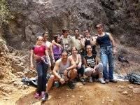 Exits to climb on natural walls in Naucalpan