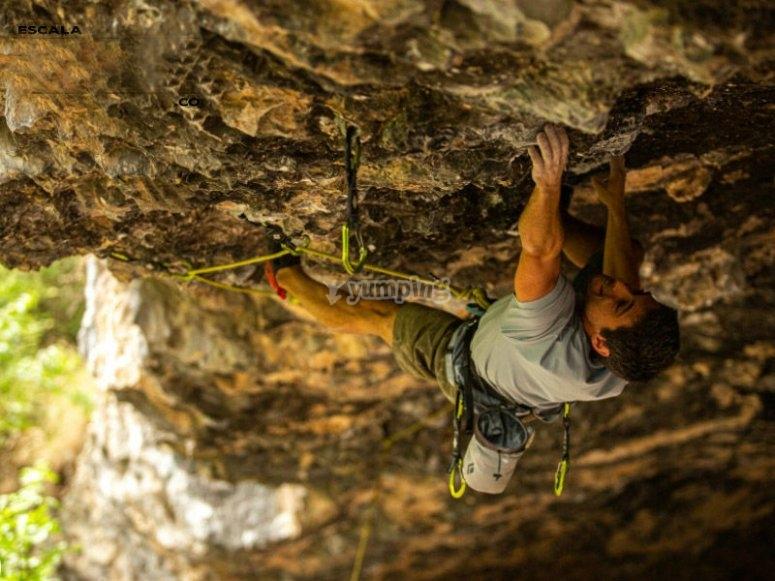 Enjoying climbing