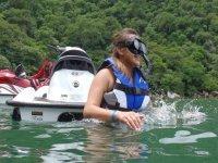 Snorkel y moto