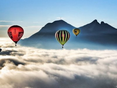 Private balloon flight for groups over Monterrey