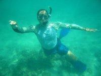 Sumergido en el agua