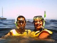 Pareja de snorkel