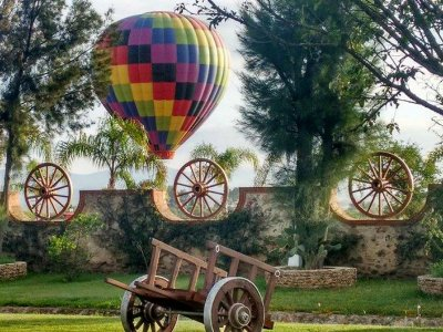 Balloon ride and luxury room Tequisquiapan