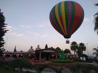 Balloon ride suit and massage in Tequisquiapan
