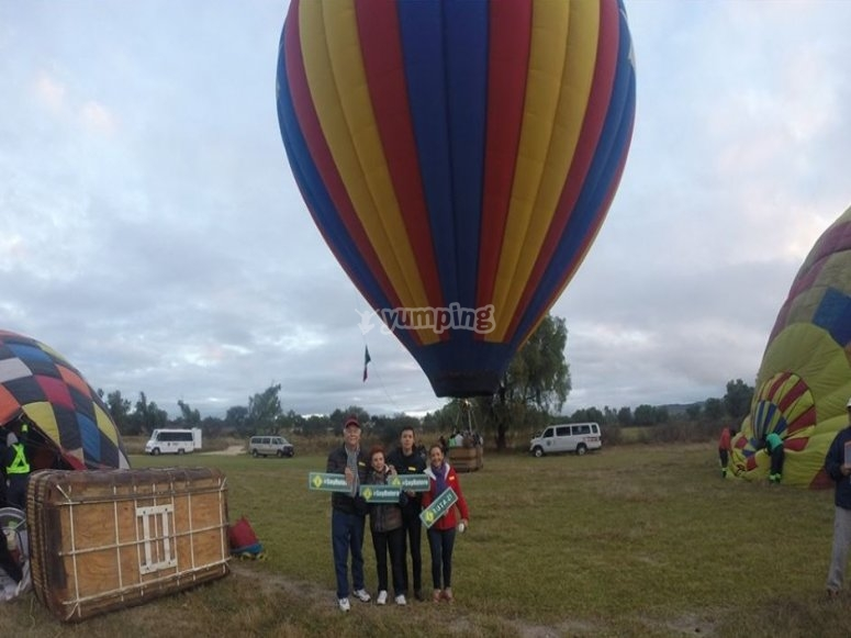 Balloon flight with friends