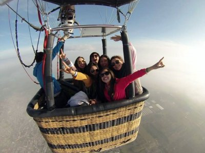 Balloon flight in Lake Tequesquitengo and toast