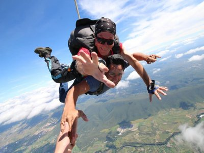 Tandem parachute at 13,000 feet in Atlixco
