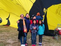Vuelo en globo niño cumpleañero en Teotihuacán